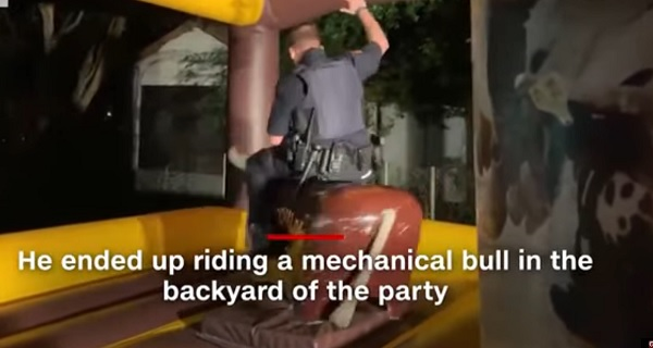 Texas Police Officer Rides Mechanical Bull At House Party After Noise Complaints
