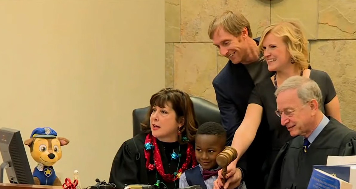 5-Year-Old Boy Invited His Entire Kindergarten Class To His Adoption Hearing