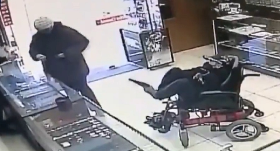 Video Shows Man On A Mobility Scooter Use His Feet To Rob Jewelry Store