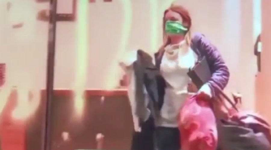 Woman Caught On Video Looting But The Reporter Tries To Change The Narrative