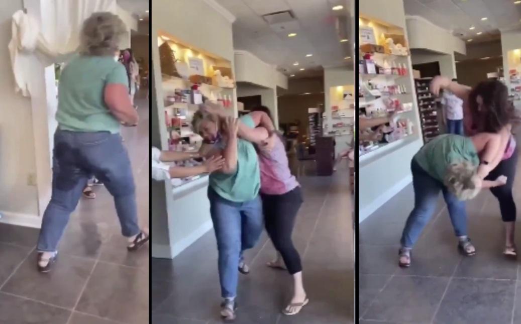 Woman Pisses Her Pants During Nail Salon Squabble