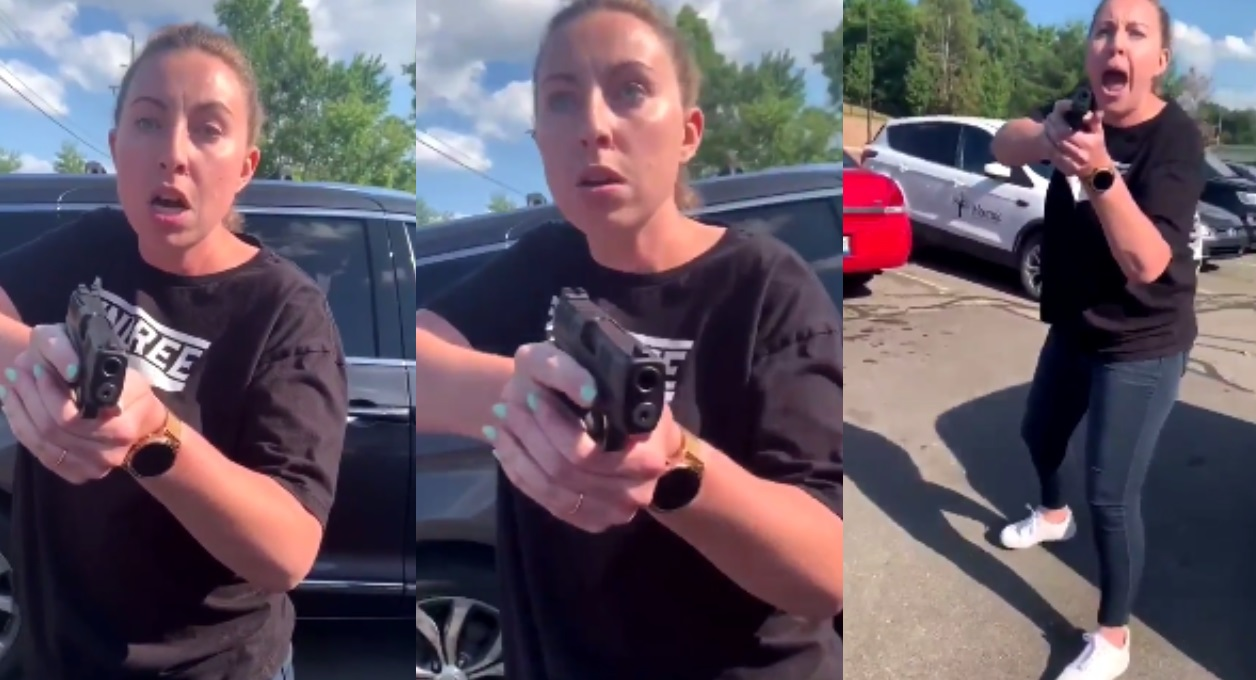 Woman Pulls Gun On Mother And Her Teen Daughter
