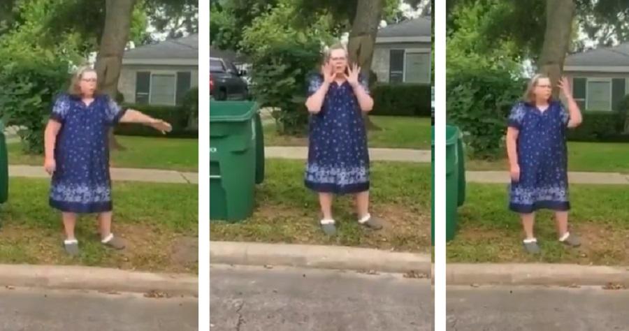 "'Krazy Karen' Tells Her Neighbors ""Go Back To Your Country"""