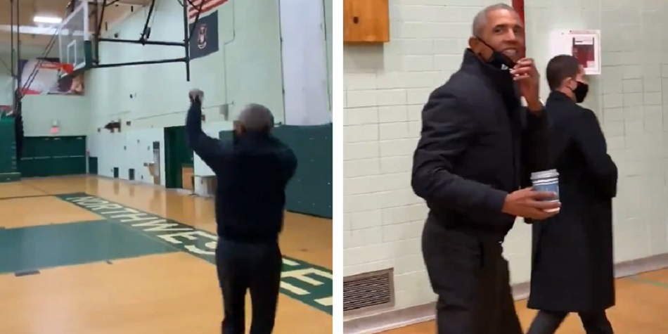 Obama Shows He's Still Got It On The Court