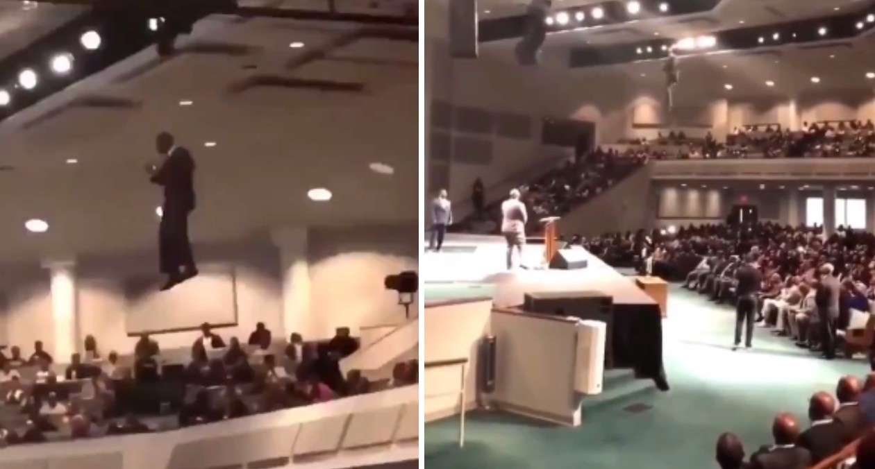 Have Ya'll Ever Seen A Pastor Fly Through The Air