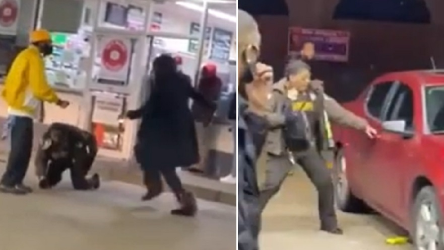 Woman Beats St. Louis Cop with Her Own Baton After She is Told to Put on a Mask