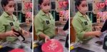 Cashier's Face Says It All When She Notices The Valentine's Candy & Plan B Pills