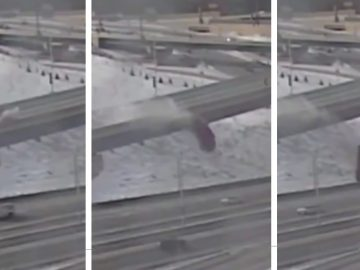 Driver Drives Off Freeway Ramp, Falling 70 Feet in Wisconsin