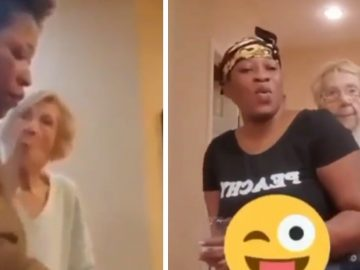 Elderly Lady That Spit In Caregivers Face...Seem To 'Make Up' & Dance Together