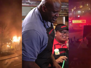 Legendary Krispy Kreme Owned by Shaq Goes Up In Flames
