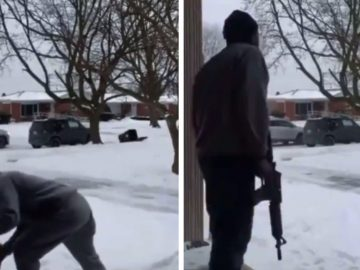 Porch Pirate Gets Caught Stealing By A Man Who Is 'Bout That Action'