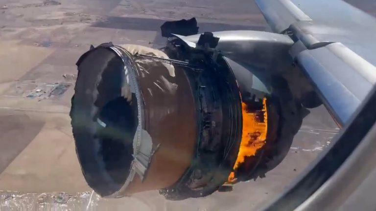 Shocking Video Shows United Airplane Engine On Fire