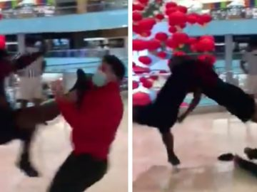 These Guys Brought a Referee and WWE Moves to the Mall