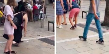 Viral Video Shows Crowd Puts The Brakes On People Trying To Pick Up A $20