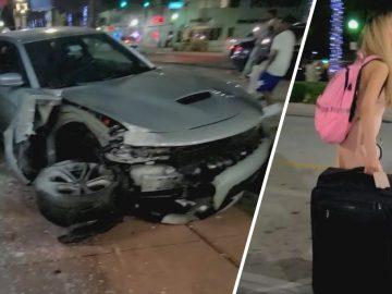 Woman Arrested After Crashing Car, Flees Scene in a Uber