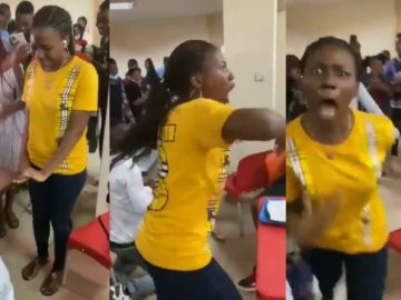 Woman Seems To Become Possessed During Proposal