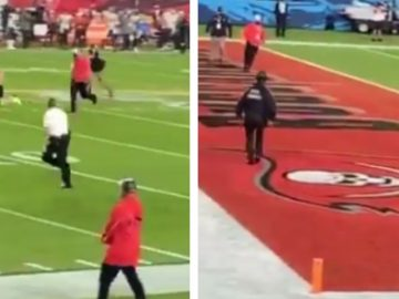 Fan Runs on Field During Super Bowl Before Being Tackled by Security