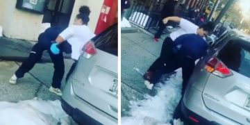 Female Chokes and Drops Body Blows on FedEx Employee While He's Delivering Packages