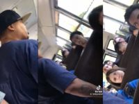 Grown Woman Confronts Teen On Bus For Throwing S**t at Her Car