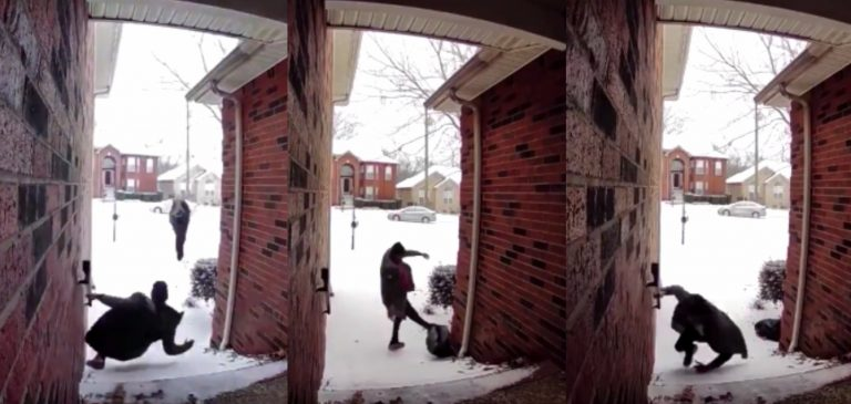 Guy Gets Pissed Tf Off After Falling In The Snow