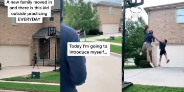 "Guy ""Welcomes"" A Kid To The Neighborhood After He Spots Him Playing Alone"