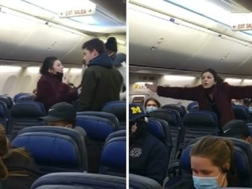 Mask Dispute on a Plane Gets Heated