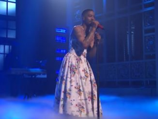 Kid Cudi Wears A Floral Dress On SNL