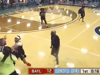 Referee Gets Body Slammed Hard During B-Ball Game