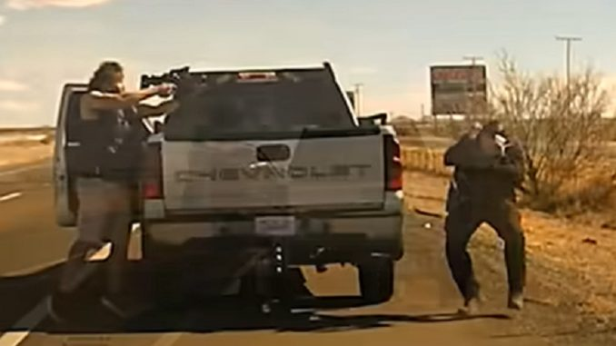 Shocking Dashcam Video Shows New Mexico Cop Being Shot Point-Blank Range During Traffic Stop