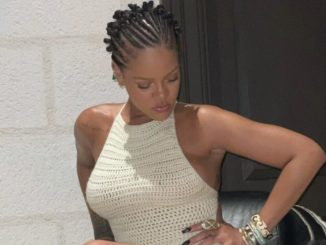 Rihanna Sets The Internet on Fire in Nearly Sheer Knitted Mini Dress