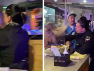 Viral Video Shows Female Security Guard Unleashing Fury On a Man and Woman in Texas Restaurant