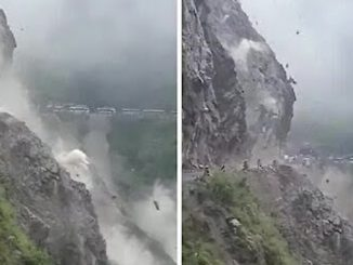 A Rockslide Was Caught On Camera In Himalayan Pass, And It Was Horrifying