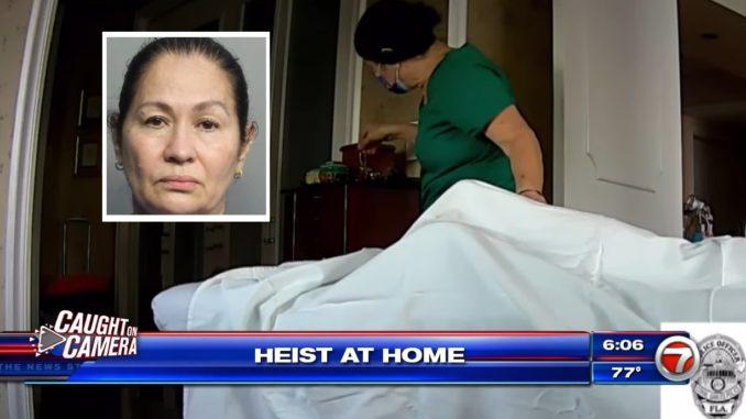 'Klepto' Massage Therapist Caught on Camera Stealing Elderly Client's Jewelry