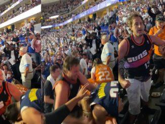 Nuggets Fan Gets Beaten In The Stands By A Suns Fan