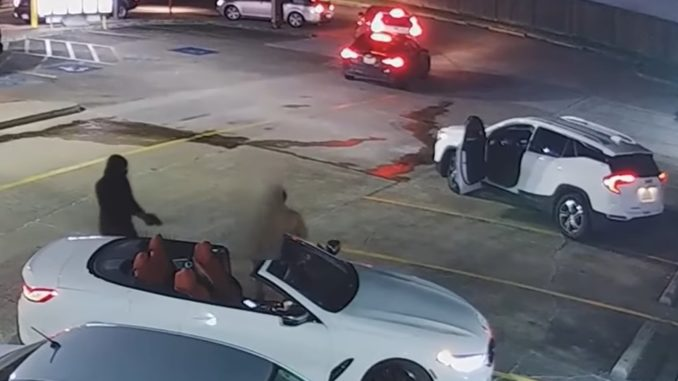 Video Shows Armed Robber Shooting a Man 7 Times in Houston