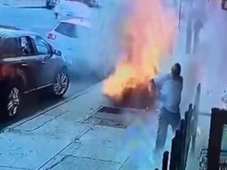 Shocking Video Shows Man Survive Horrifying Sidewalk Explosion in NYC