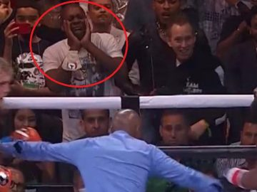 Fans React to Dave Chappelle Having The Time Of His Life Watching The Paul vs Woodley Fight