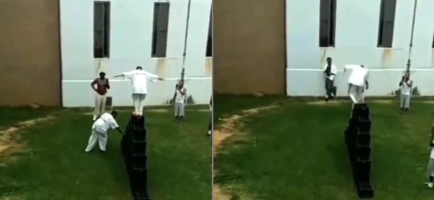 Inmates In Prison Doing The Milk Crate Challenge For 100 Pack Of Noodles