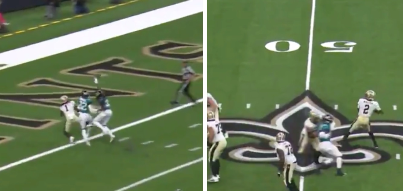 Jameis Winston Drops a Bomb Between Double Coverage to Callaway Marquez