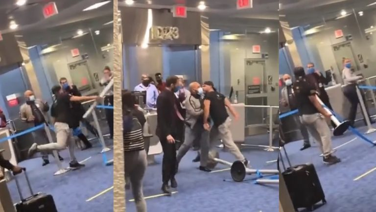 Viral Video Shows Man Go Into a Racist Violent Rage Inside Miami Airport