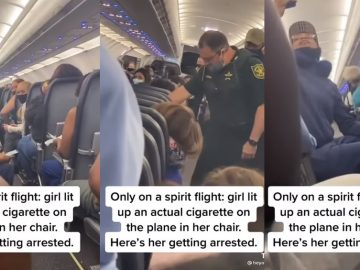 Woman Gets Booted Off Plane After Smoking a Cigarette on Spirit Flight