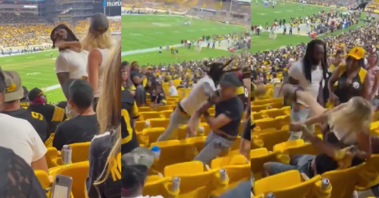 Woman Slaps a Fan and Her Man Gets Put To Sleep For It