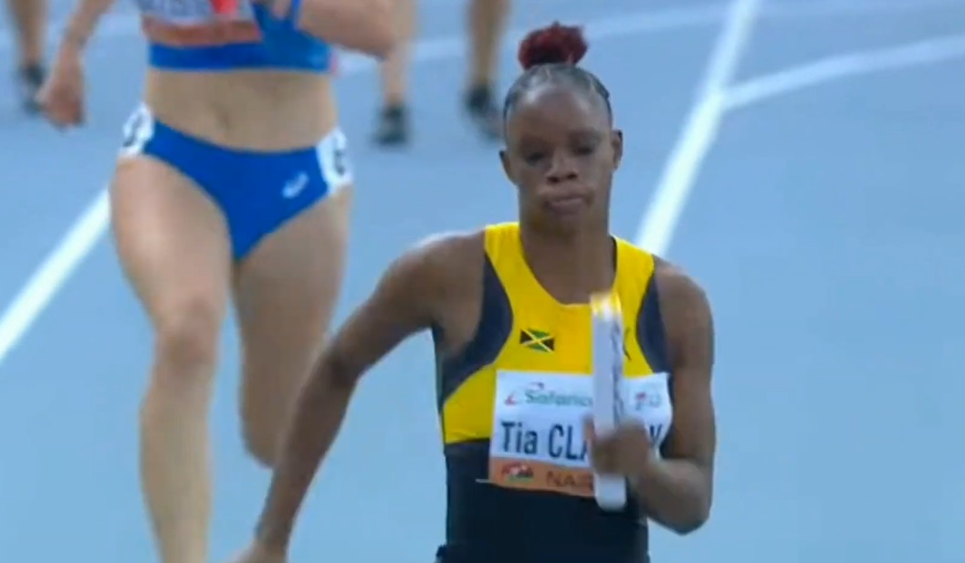 eam Jamaica Sets a New World Under-20 Record of 42.94 to Win Gold in The Women's 4x100m Final