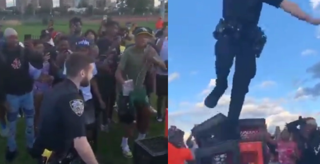 """Cop Tries The """"Milk Crate Challenge"""" & Almost takes An L"""