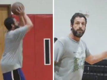 Adam Sandler Hooping With NBA Pros, Proves He Is The Real Deal + Co-Sign From Shaq