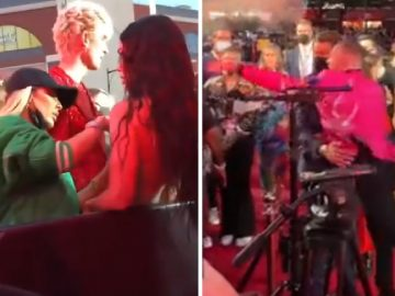 UFC Fight Conor McGregor Tries to Put 'His Paws' on Machine Gun Kelly at The 2021 VMAs