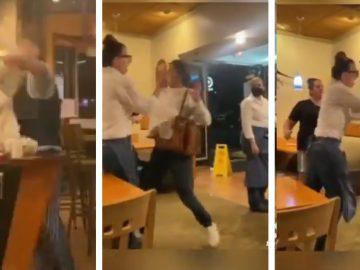 Drunk Karen Attacks Restaurant Employees in California