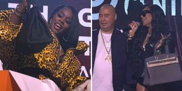 Fat Joe Presents Ashanti & Remy Ma With Hermès Purses During Verzuz Against Ja Rule