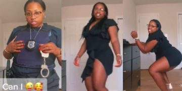 Female Cop Is Doin' The Most While Dropping It Like It's Hot