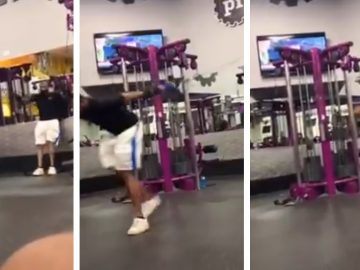 Guy Is Doing The Most in Planet Fitness